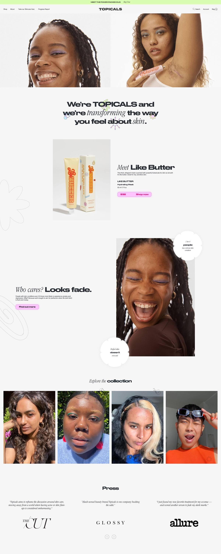 eCommerce website: Topicals