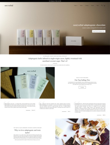 eCommerce website: Non Verbal