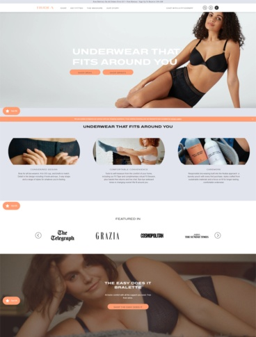 eCommerce website: Nudea