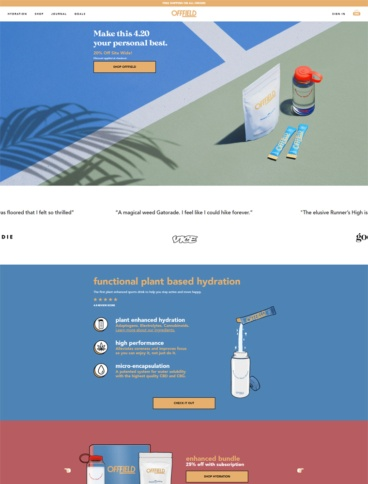 eCommerce website: OFFFIELD