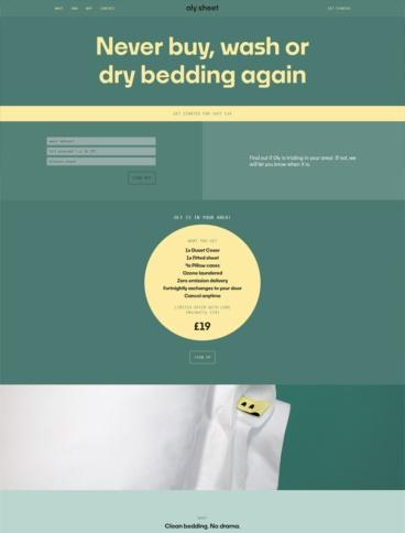 eCommerce website: Oly Sheet
