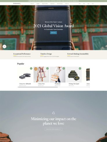 eCommerce website: Paravel