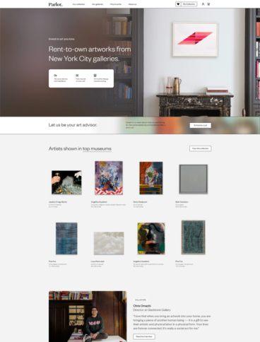 eCommerce website: Parlor