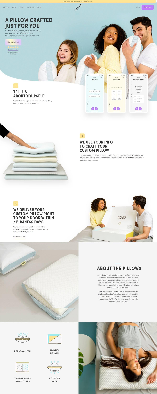 eCommerce website: Pluto Pillow