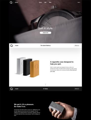 eCommerce website: Quittr