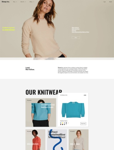 eCommerce website: Sheep Inc