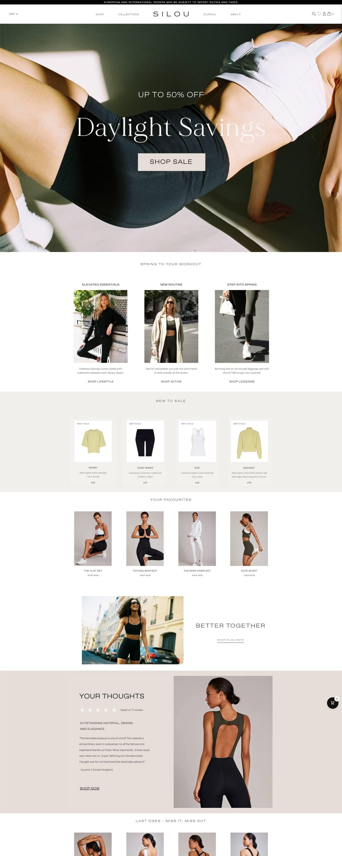 eCommerce website: SILOU