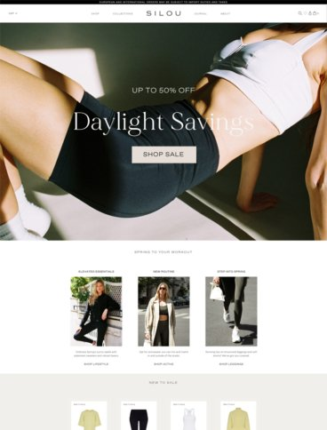 eCommerce website: SILOU
