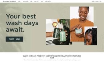 eCommerce website: Sienna Naturals