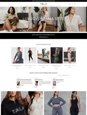 eCommerce website: TALA