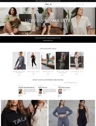 eCommerce website: TALA