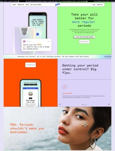 eCommerce website: Aavia