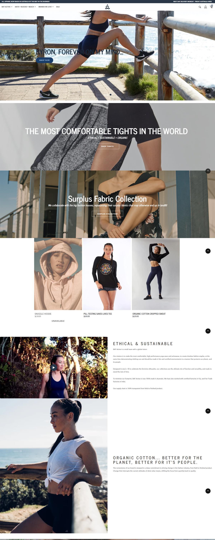 eCommerce website: BAY Active