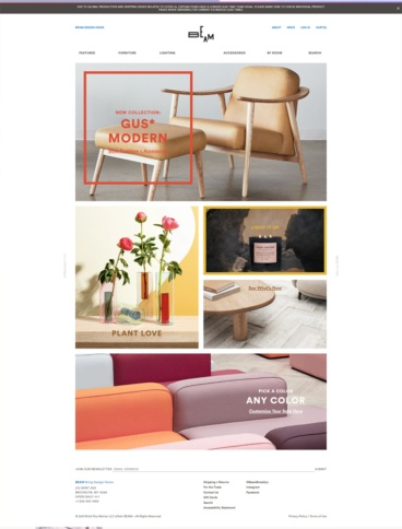 eCommerce website: BEAM