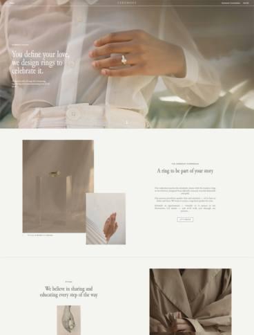 eCommerce website: Ceremony