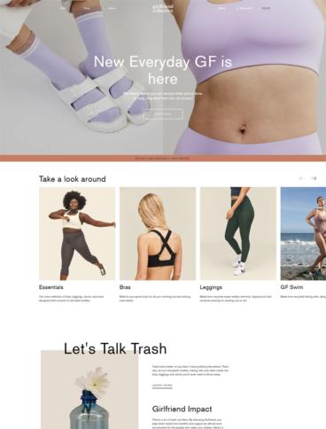 eCommerce website: Girlfriend Collective