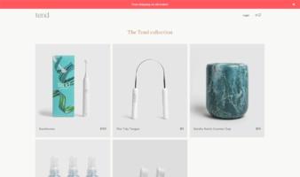 eCommerce website: Tend