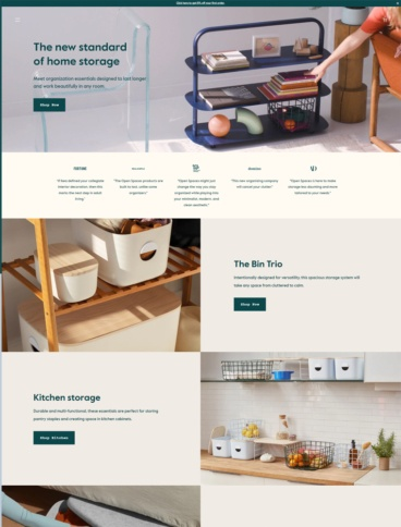 eCommerce website: Open Spaces