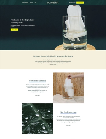 eCommerce website: Planera