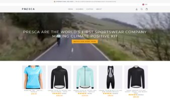 eCommerce website: Presca