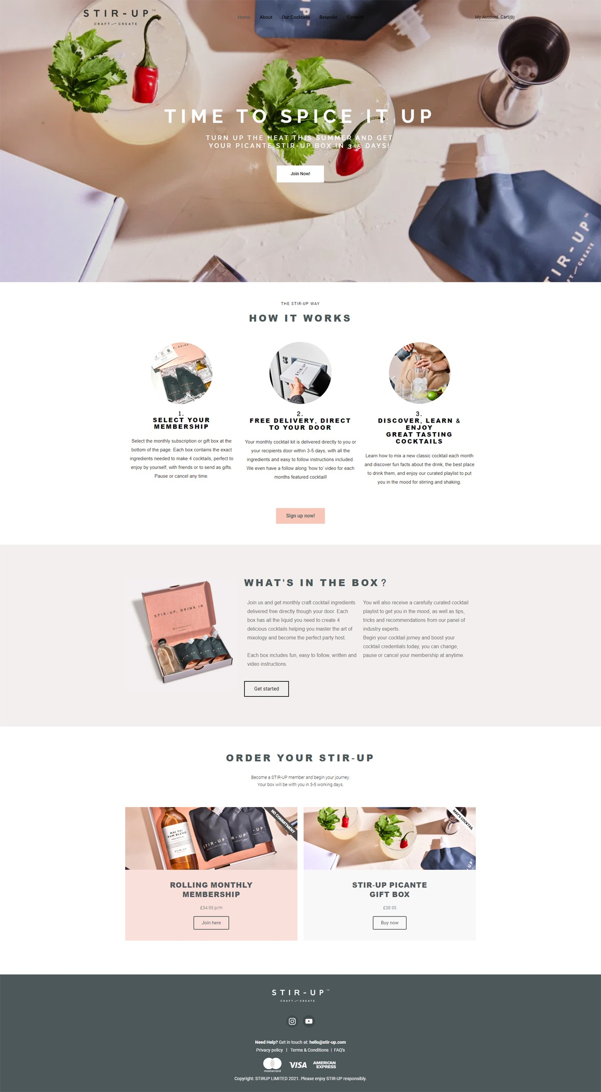 eCommerce website: STIR-UP