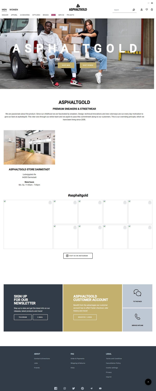 eCommerce website: Asphaltgold