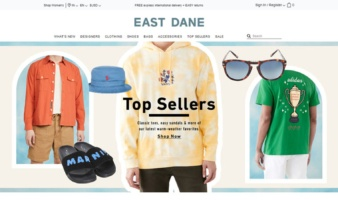 eCommerce website: East Dane