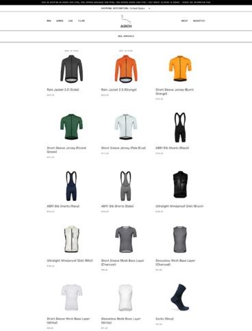 eCommerce website: Albion