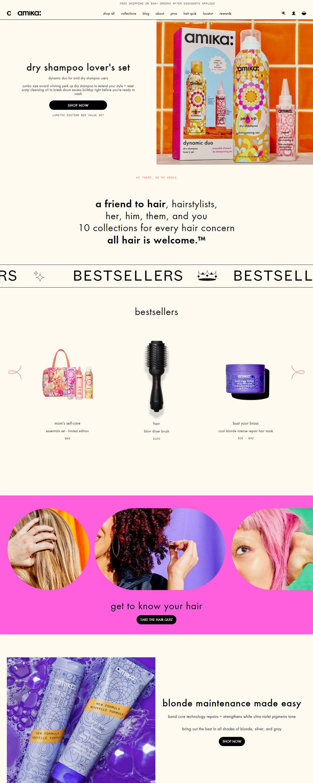eCommerce website: amika