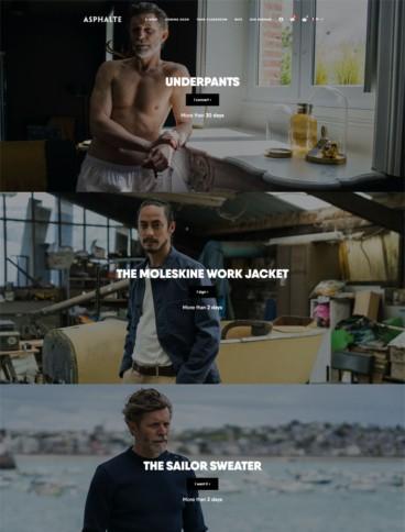 eCommerce website: Asphalte
