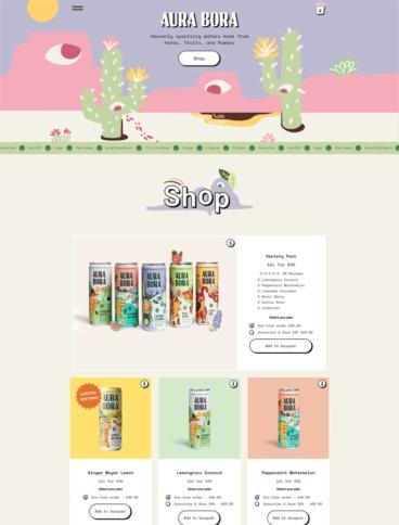 eCommerce website: Aura Bora