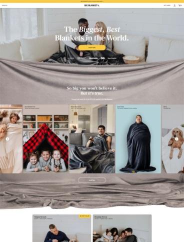 eCommerce website: Big Blanket
