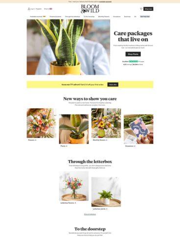 eCommerce website: Bloom & Wild
