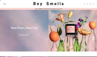 eCommerce website: Boy Smells