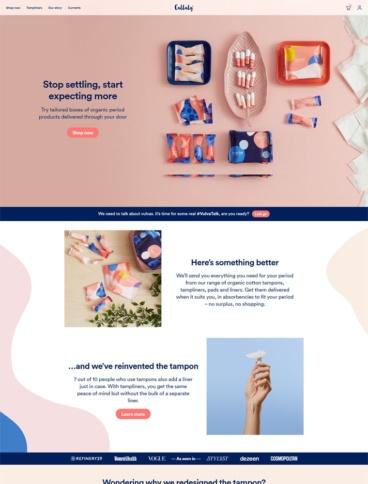 eCommerce website: Callaly