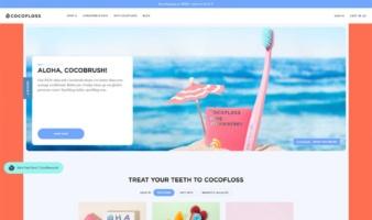 eCommerce website: Cocofloss