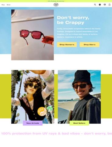 eCommerce website: Crap Eyewear