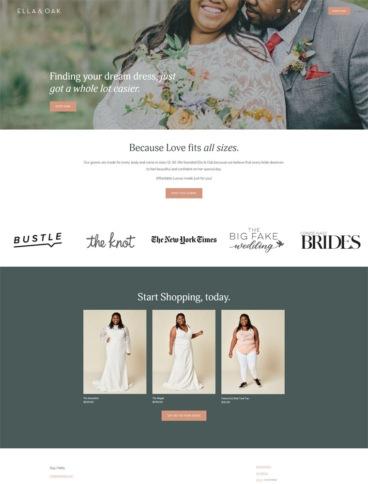 eCommerce website: Ella & Oak