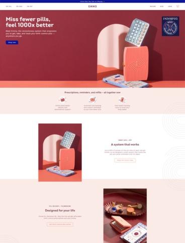 eCommerce website: Emme