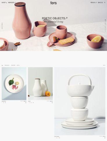 eCommerce website: Fors Studio