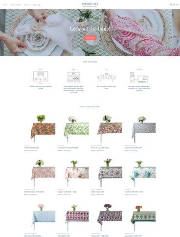 eCommerce website: Freshly Set