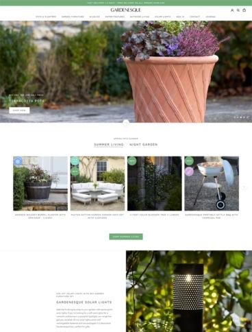 eCommerce website: Gardenesque