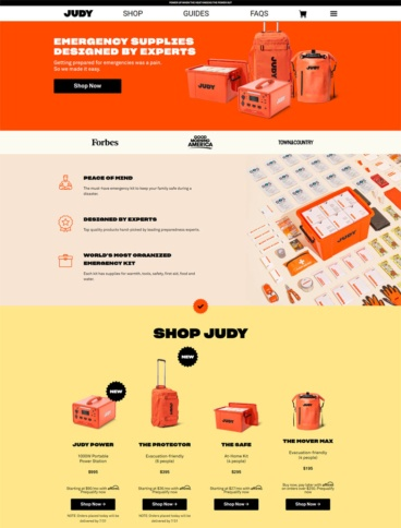 eCommerce website: Judy