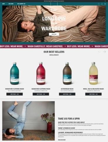 eCommerce website: Kair