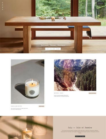eCommerce website: Keap