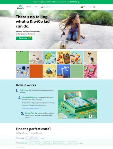 eCommerce website: KiwiCo