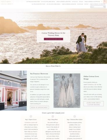 eCommerce website: Lace & Liberty