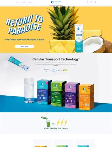 eCommerce website: Liquid IV