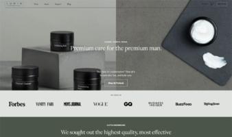eCommerce website: Lumin