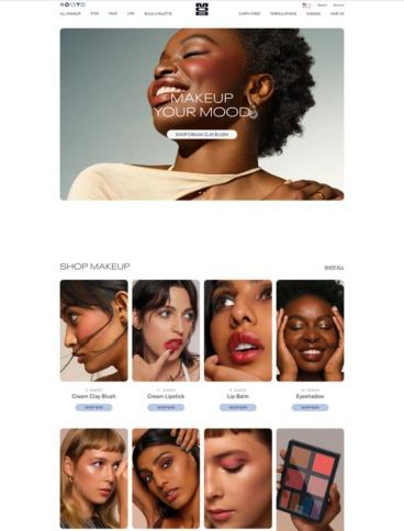 eCommerce website: MOB Beauty